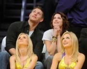 Nov 24, 2010 - Danneel Harris and Jensen Ackles at Lakers Game in Los Angeles 1b9dae108348261