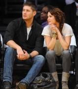 Nov 24, 2010 - Danneel Harris and Jensen Ackles at Lakers Game in Los Angeles 2d0e88108348227