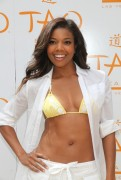 Gabrielle Union - Bikini top @ Tao Beach Las Vegas 2011 Season Opening Day