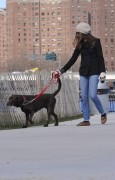 Энн Хэтэуэй, фото 5959. Anne Hathaway 'Walking her dog in Brooklyn', february 5, foto 5959