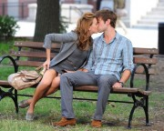 Katie Cassidy and Chace Crawford - kissing